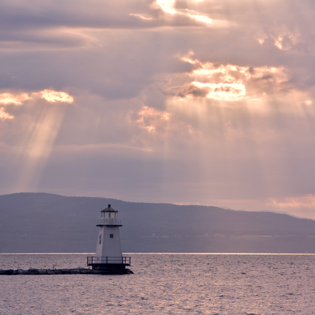"""Burlington, VT Lighthouse."" stock image"
