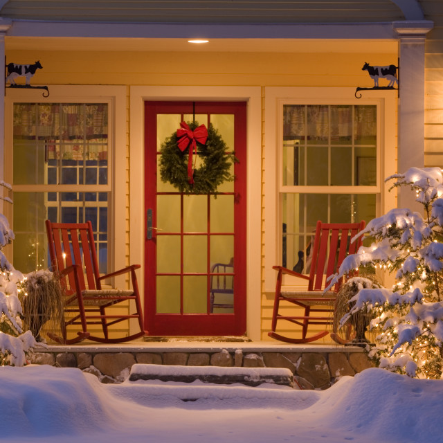 """Christmas Home. Grand Isle, Vermont"" stock image"