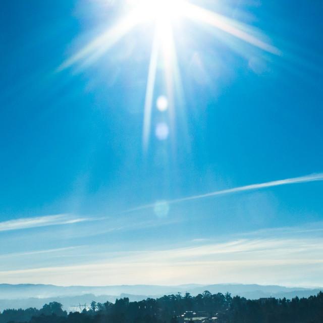 """A slice of sun beams"" stock image"