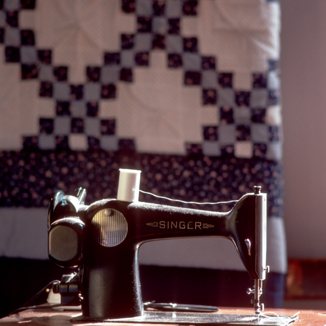 """Singer Sewing Machine"" stock image"