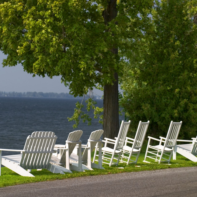 """Isle LaMotte, Lake Champlain Islands"" stock image"