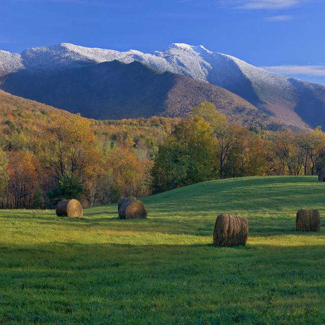 """Mt. Mansifield from Cambridge, VT"" stock image"