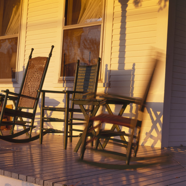 """Rocking Chairs"" stock image"