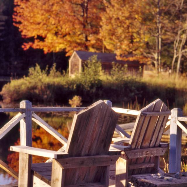 """Adirondack Chairs"" stock image"