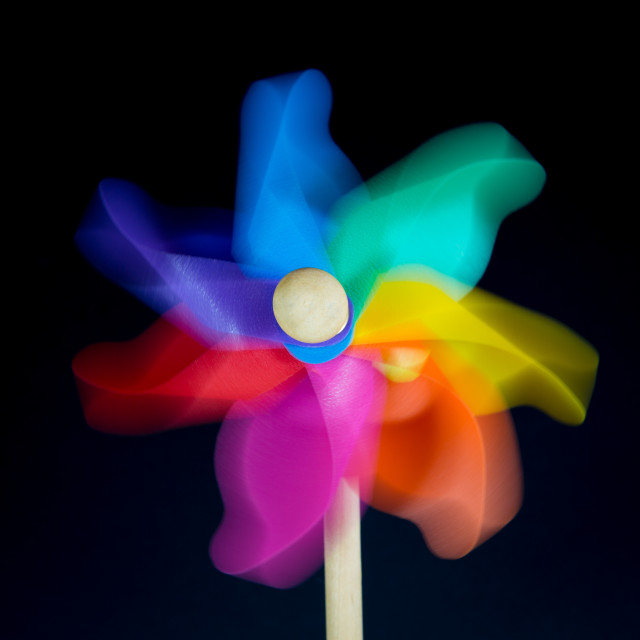 """colored pinwheel"" stock image"
