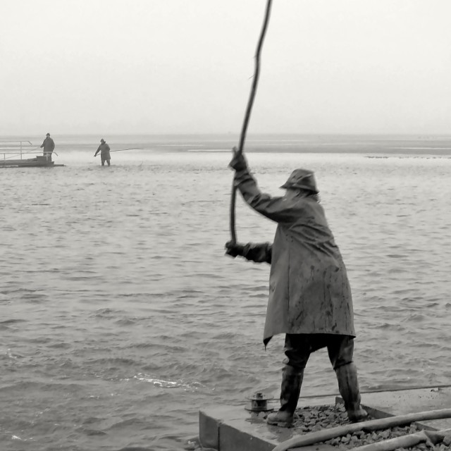 """""""Fishing Out 15"""" stock image"""