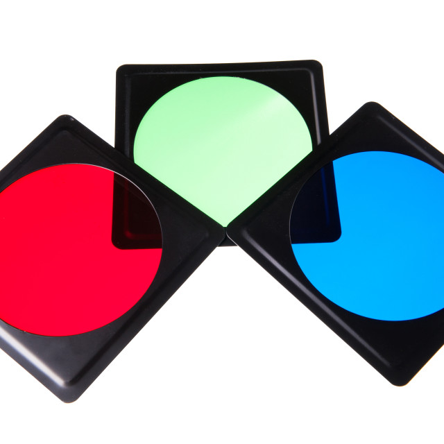 """""""plastic light modifiers filters in rgb colors"""" stock image"""
