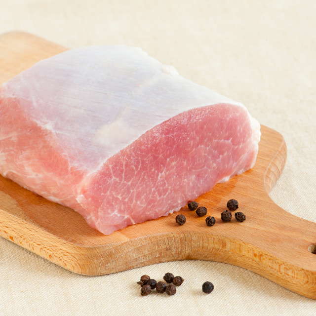 """Raw pork meat for cutlets polish kotlet schabowy"" stock image"