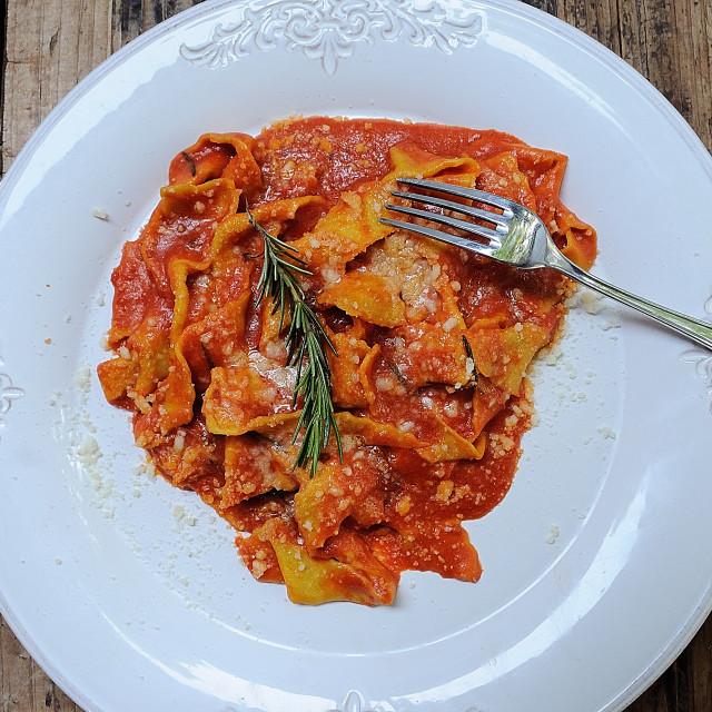 """Pasta dish, Rome"" stock image"