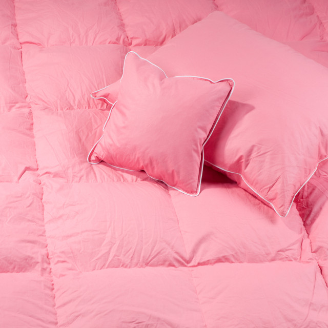 """pillows and quilt"" stock image"