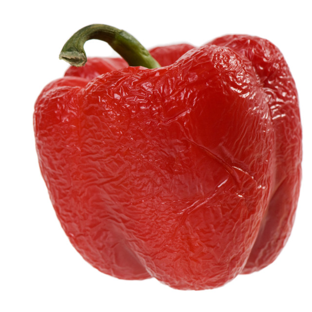 """""""withered red pepper"""" stock image"""