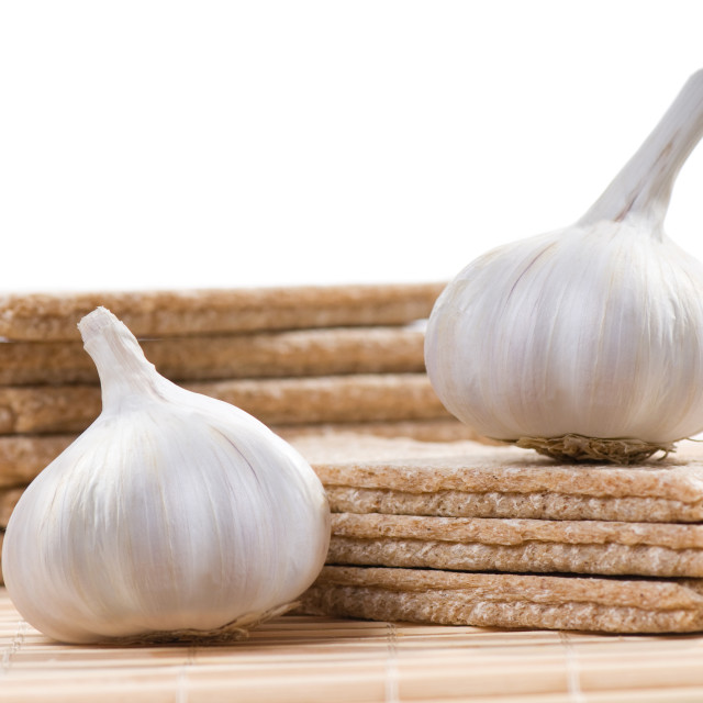 """dry bread and garlic"" stock image"