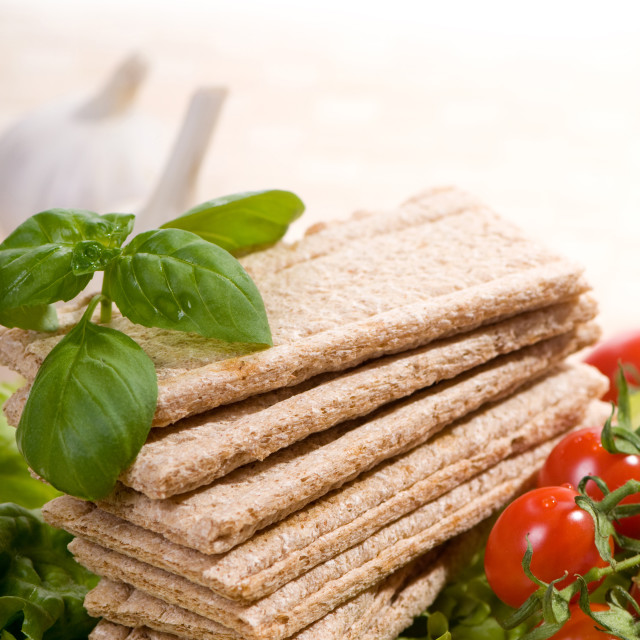 """crispbread and vegetables"" stock image"