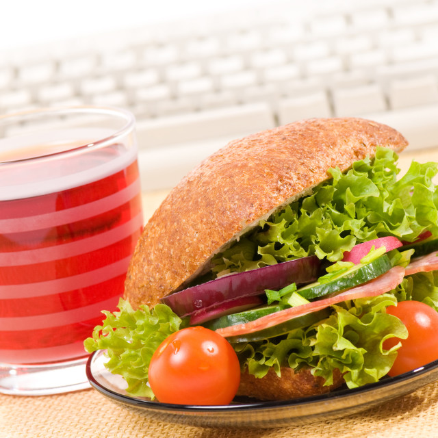 """""""sandwich with vegetables"""" stock image"""