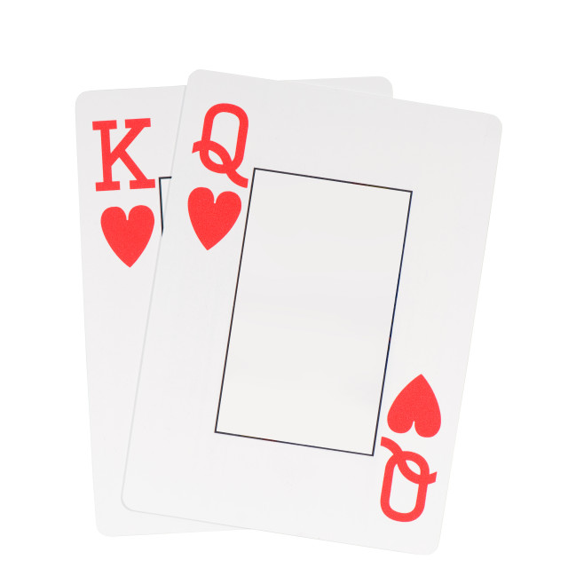 """king and queen cards"" stock image"