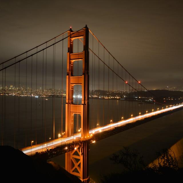 """Golden Gate at Night"" stock image"