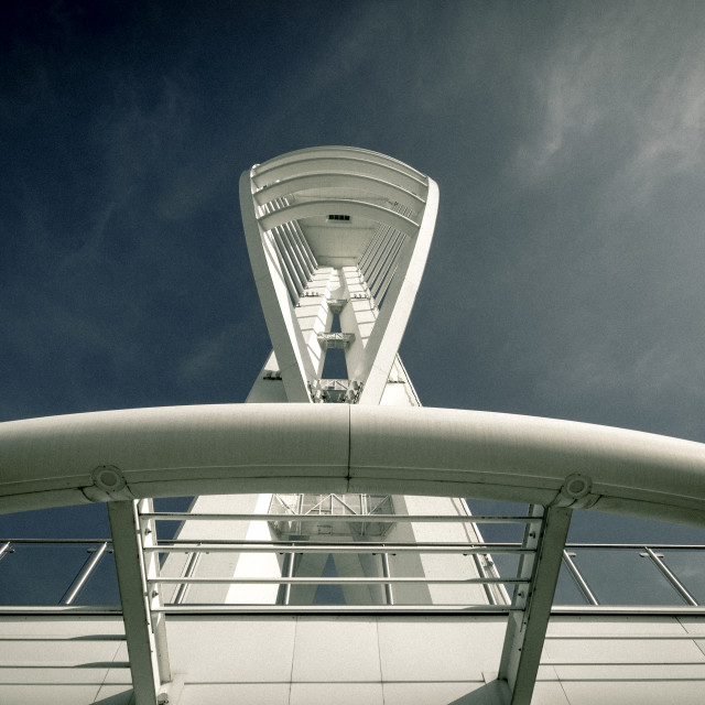 """Spinnaker Tower"" stock image"