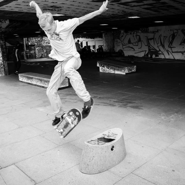 """""""Kickflip Skateboarder"""" stock image"""