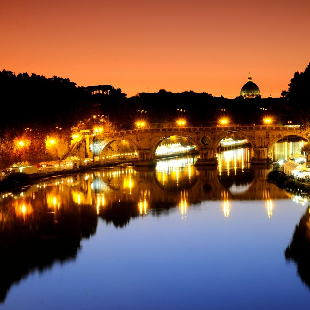 """Rome by night"" stock image"