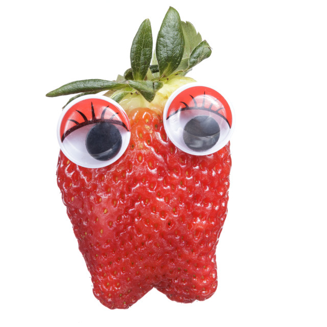 """Strawberry cartoon"" stock image"