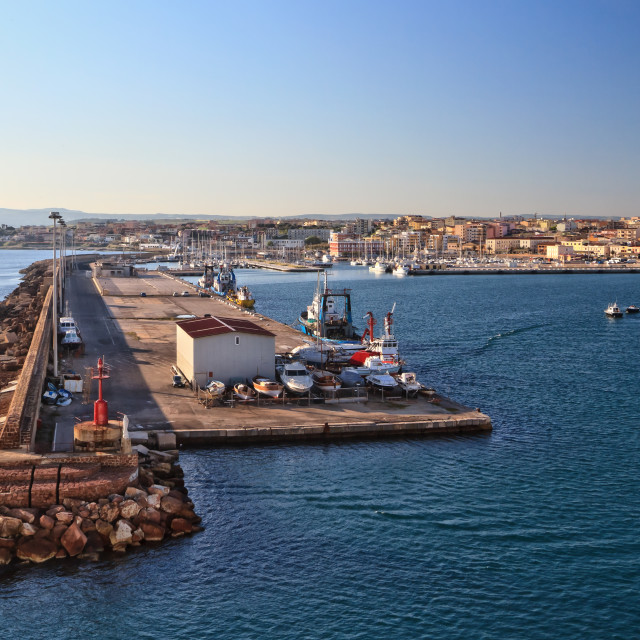 """Sardinia - harbor in Porto Torres"" stock image"