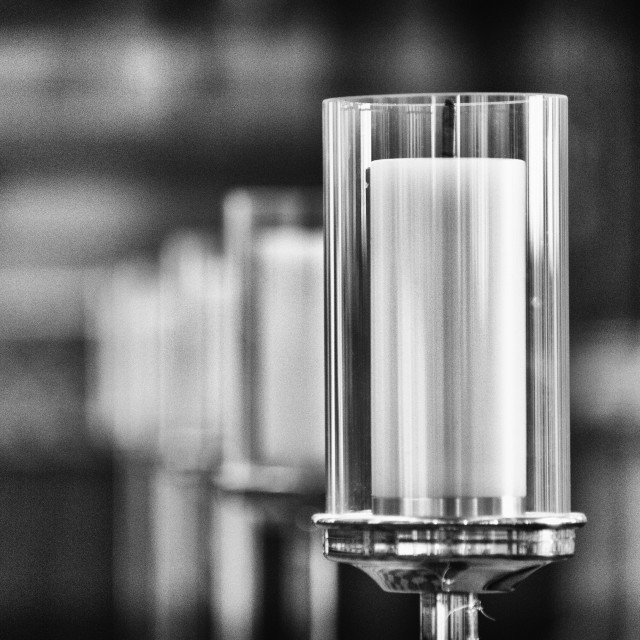 """Church Candle in Black and White"" stock image"
