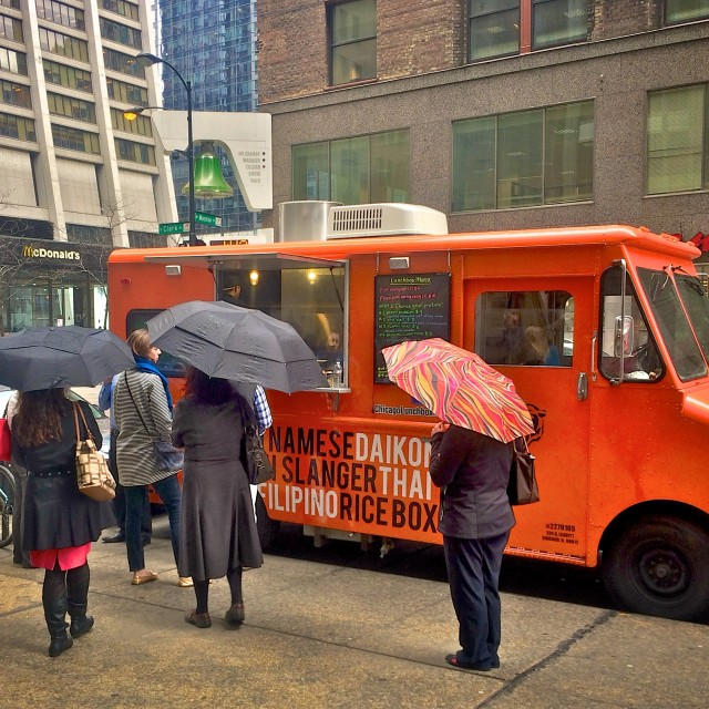 """Chicago Food Truck"" stock image"