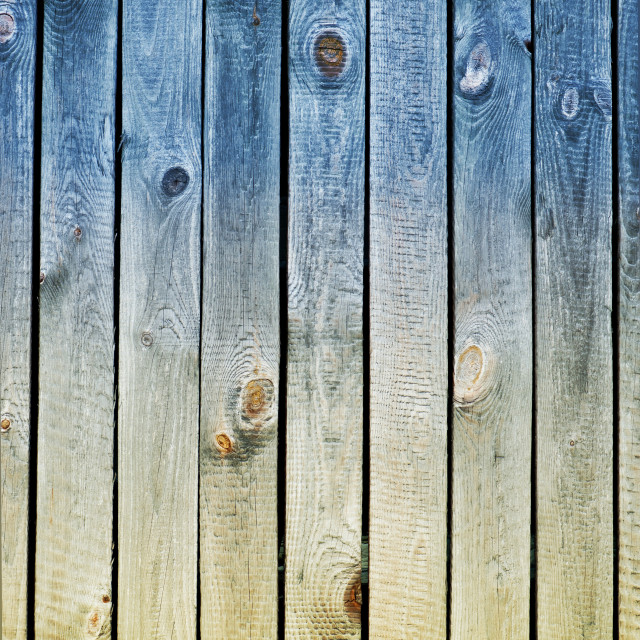 """Blue yellow toned boards texture"" stock image"