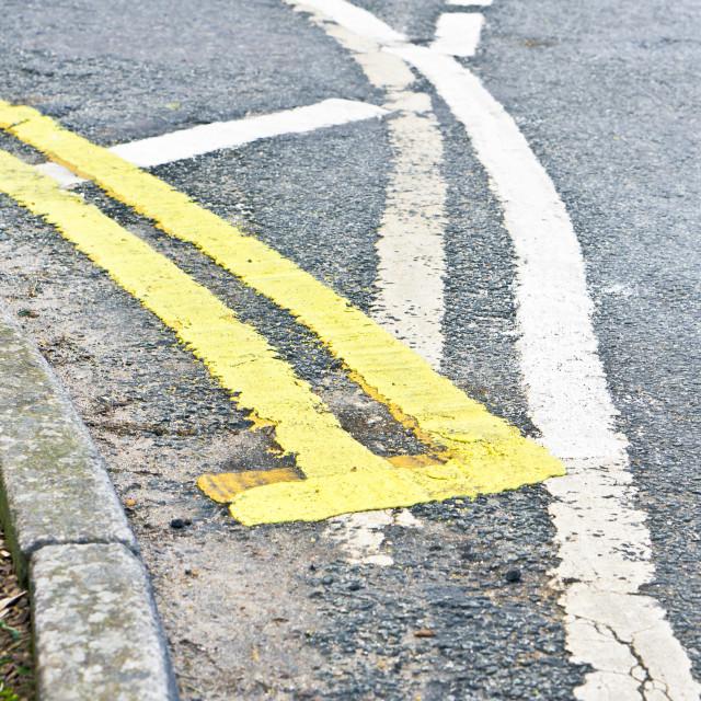 """Road markings"" stock image"