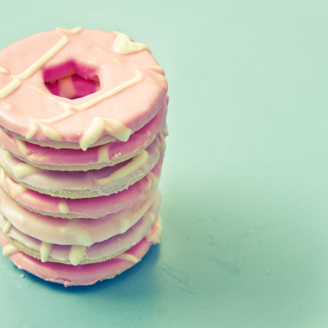 """Pink cookies"" stock image"