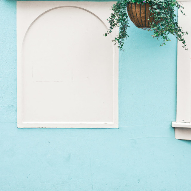 """""""Blue wall"""" stock image"""