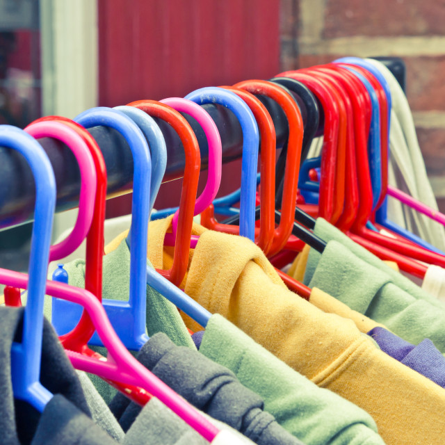 """Colorful tops"" stock image"
