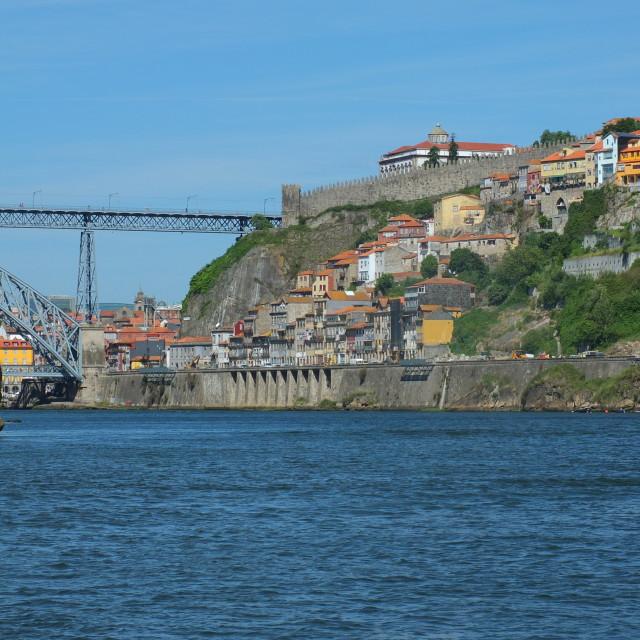 """Dom Luis I Bridge and Porto"" stock image"