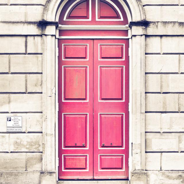 """""""Red arch door"""" stock image"""