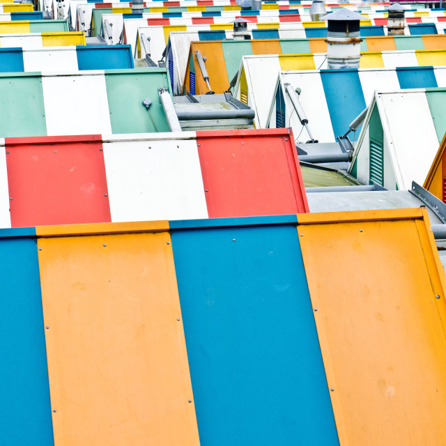 """Colorful roofs"" stock image"