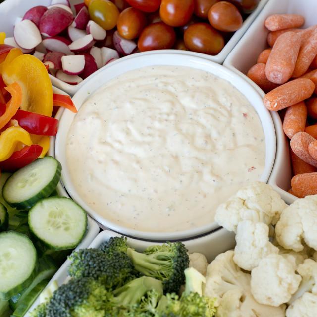 """""""veggie platter"""" stock image"""