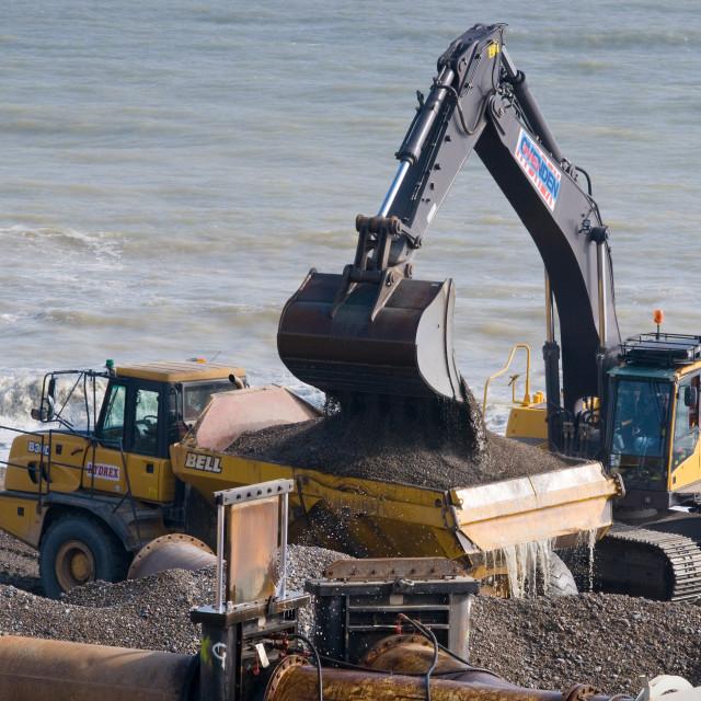 """Beach Restoration"" stock image"