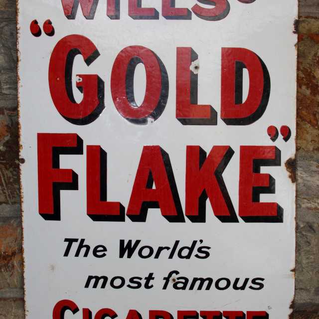 """wills's gold flake advert"" stock image"