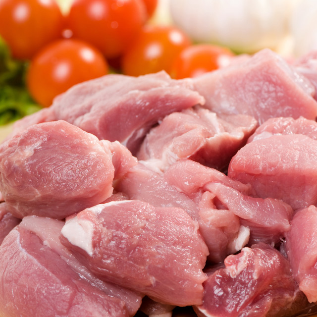 """""""red meat for stew"""" stock image"""