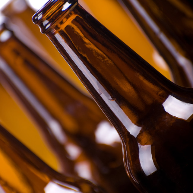 """brown bottles of beer"" stock image"