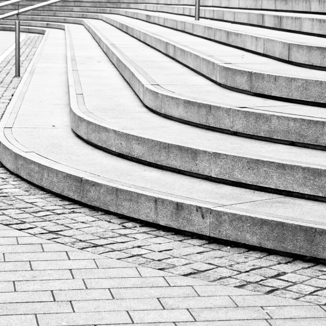 """Concrete steps"" stock image"