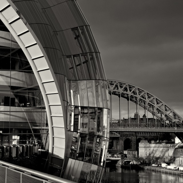 """Tyne Arcs, Old and new"" stock image"