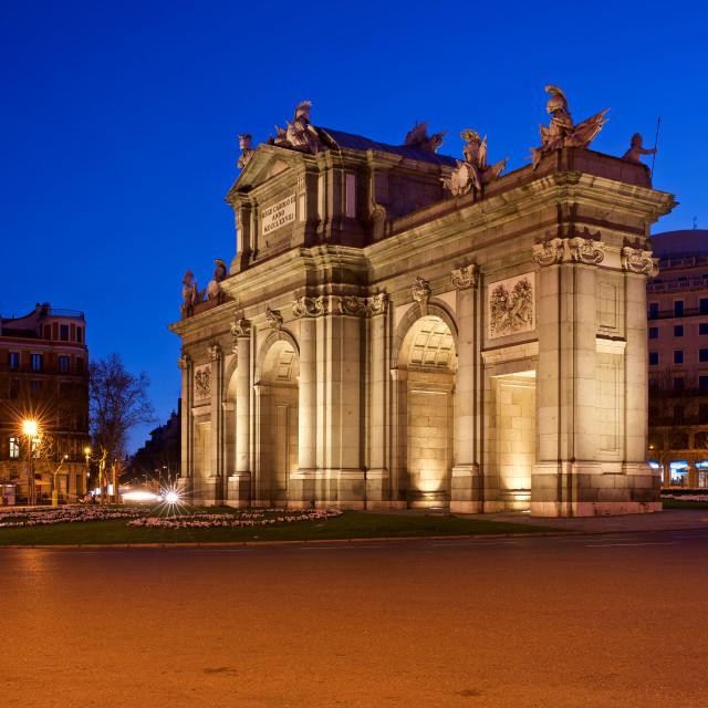 """Puerta De Alcala Madrid"" stock image"