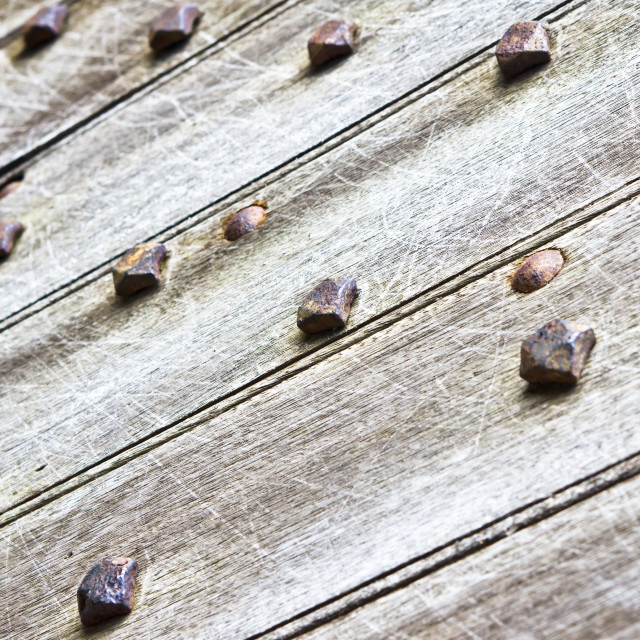 """Studded wooden surface"" stock image"