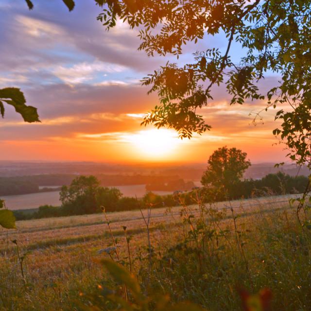 """""""Framed Sunrise"""" stock image"""