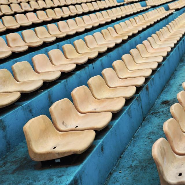 """""""Empty Stadium Seats"""" stock image"""