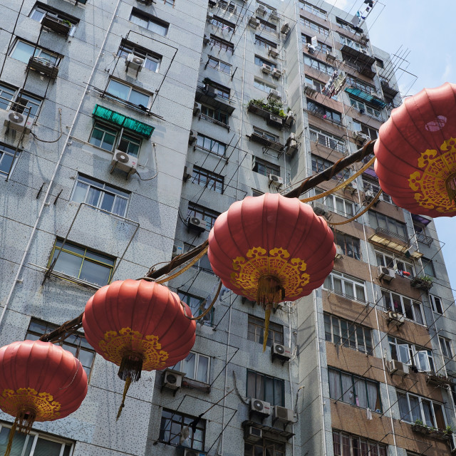 """Shanghai Apartment Lanterns"" stock image"