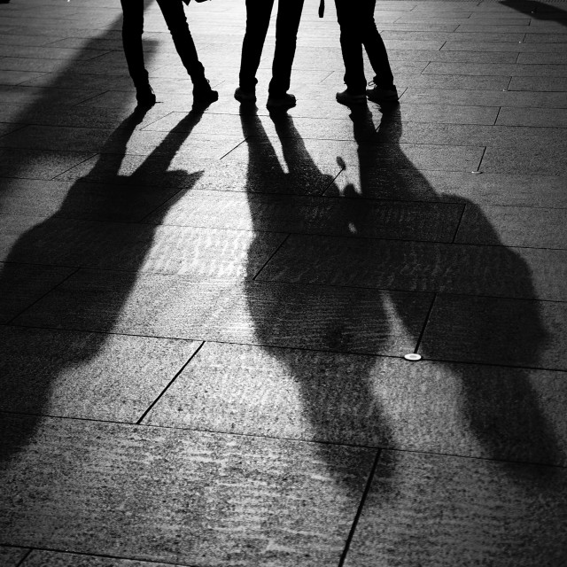 """Street Shadows"" stock image"