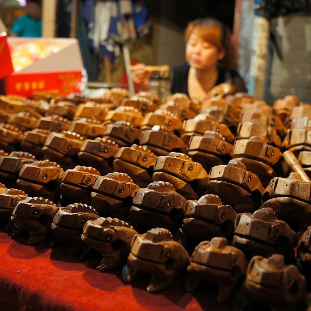 """Xian Market Frogs"" stock image"