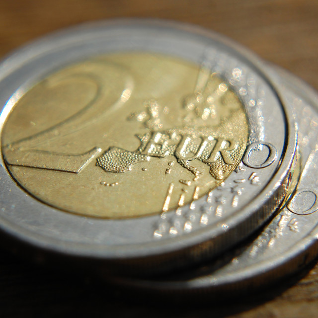 """Euro coin"" stock image"